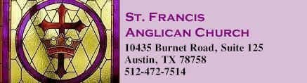 St. Francis Anglican Church, 10435 Burnet Rd., Suite 125, Austin, TX